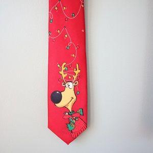 Ho Ho Ho Reindeer Antler String Lights Ties